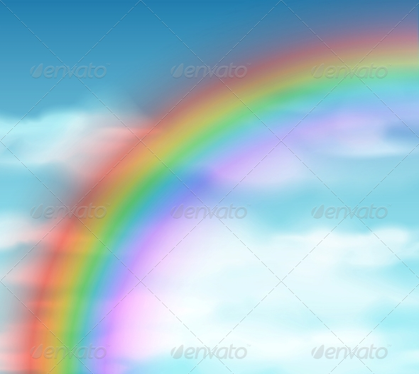 Natural Background with Rainbow - Landscapes Nature