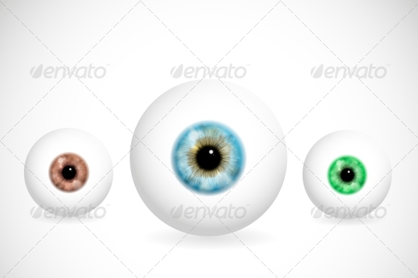 Eyes of Different Colors - Health/Medicine Conceptual