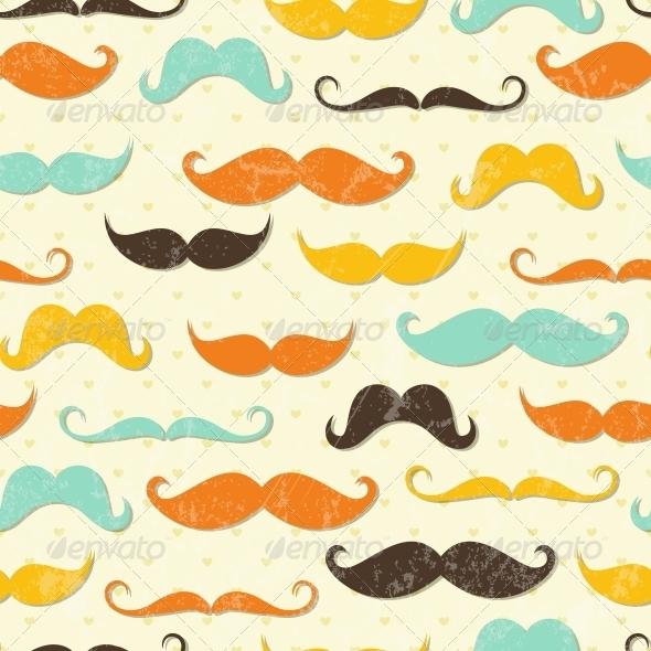 Mustache Seamless Pattern - Patterns Decorative