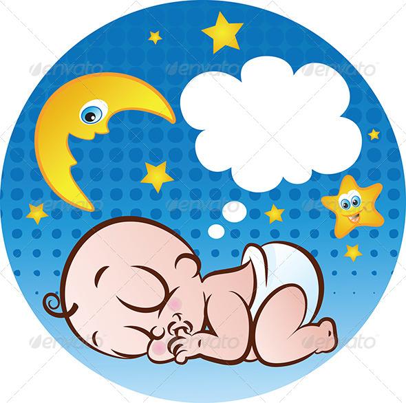 Sleeping Baby Boy - People Characters