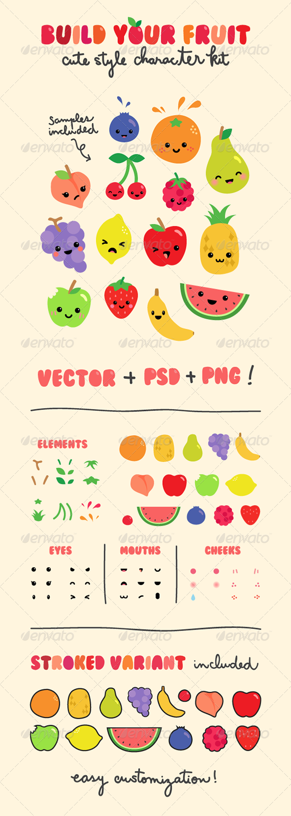Fruit Character Creation Kit - Miscellaneous Characters