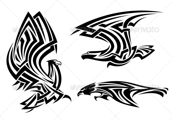 Tribal Eagle, Hawk and Falcon - Animals Characters