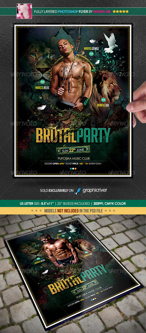 Brutal Party Poster/Flyer - Events Flyers