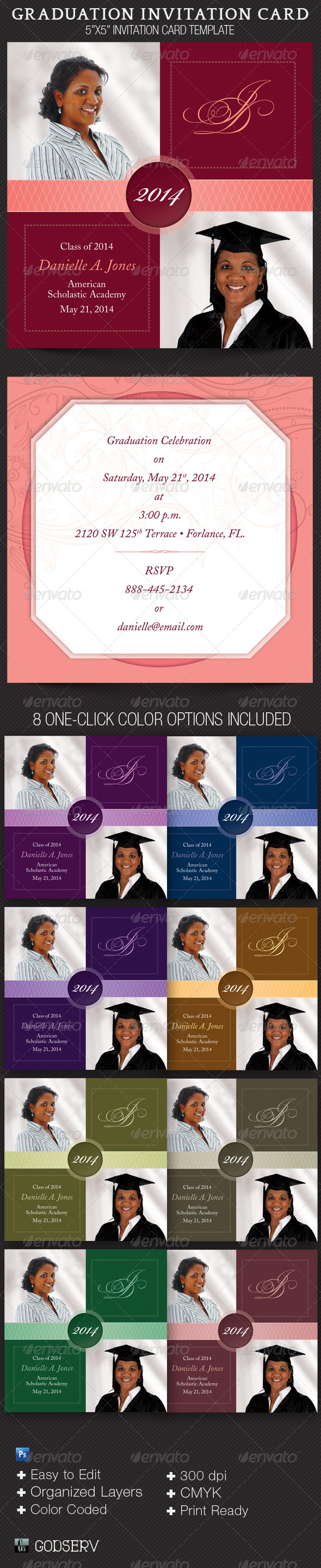 Graduation Invitation Card Template - Invitations Cards & Invites