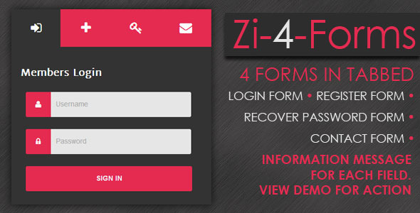 Zi-4-Forms - CodeCanyon Item for Sale