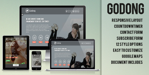 Godong - Responsive Underconstruction Template - Under Construction Specialty Pages