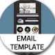 Clock Email Template - GraphicRiver Item for Sale
