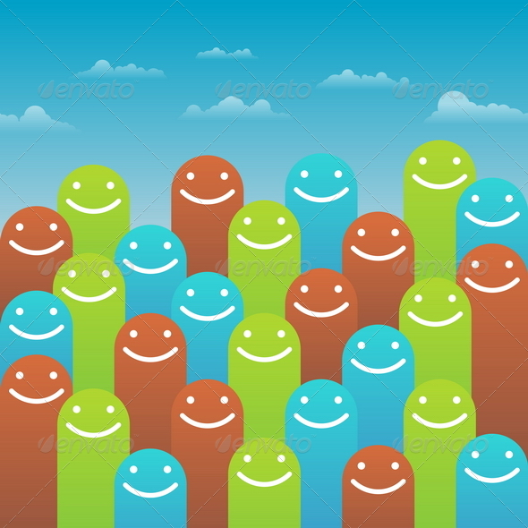 Abstract Happy Faces - Miscellaneous Characters