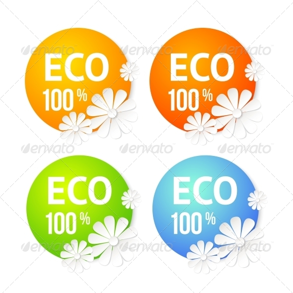 Eco Banner of Flower. - Abstract Conceptual