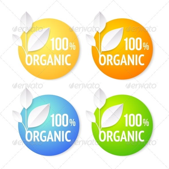 Organic Plant Labels Set. - Abstract Conceptual