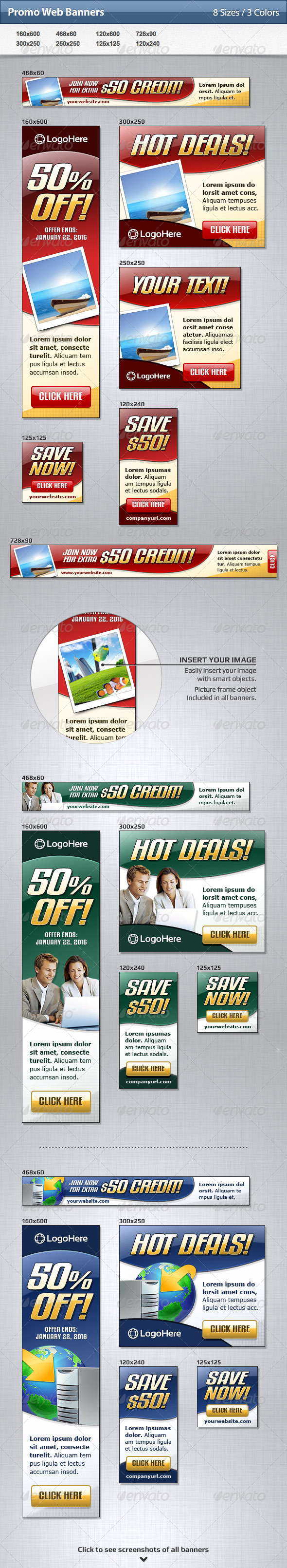 Promo Web Banners - Banners & Ads Web Elements