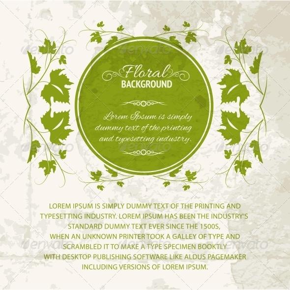 Vine Leaf Frame. - Flowers & Plants Nature