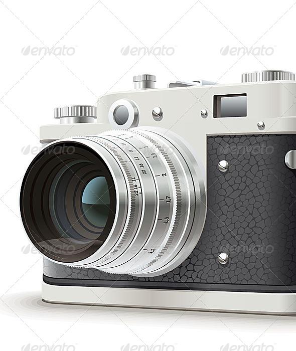 Old Photo Camera - Retro Technology