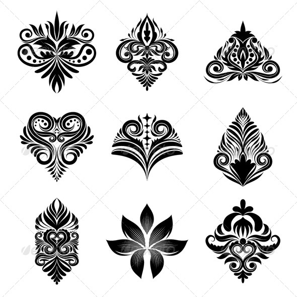 Icon Ornamental Set - Decorative Symbols Decorative