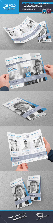 Global World Tri-Fold Template - Brochures Print Templates
