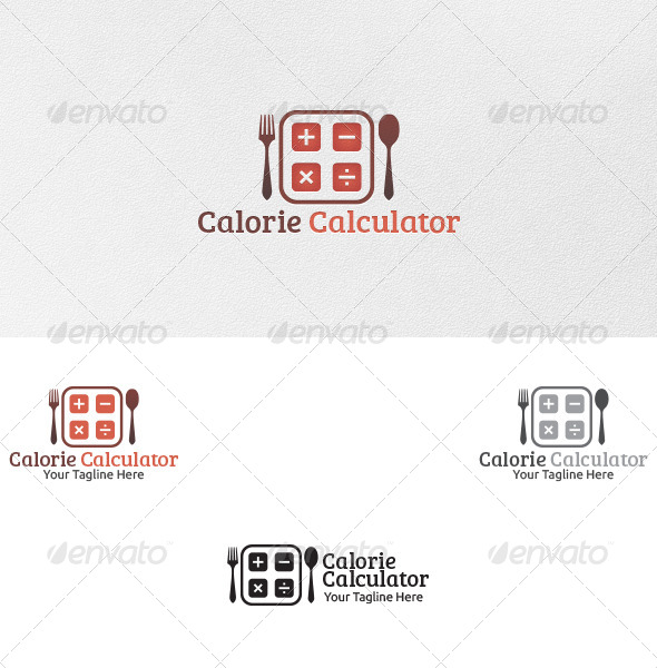 Calorie Calculator - Logo Template - Food Logo Templates