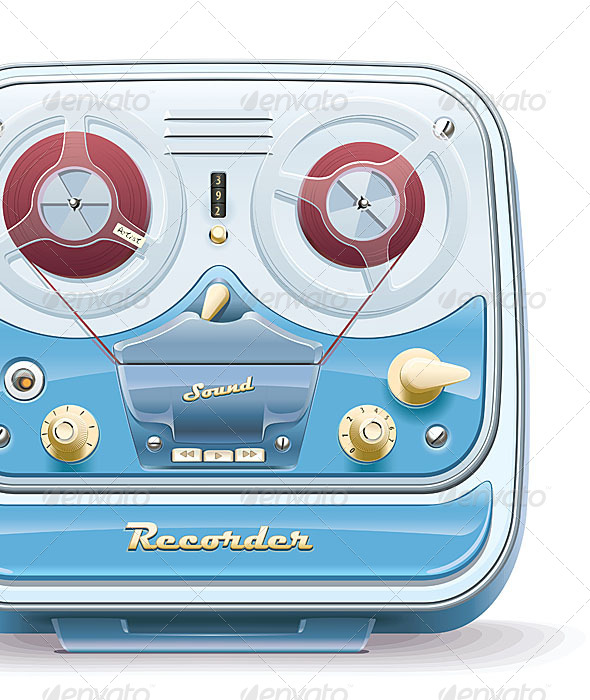 Old Tape Recorder - Retro Technology
