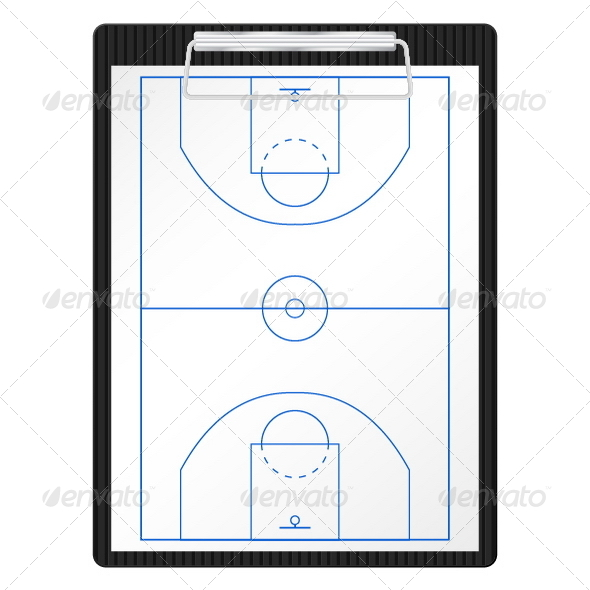 Basketball Clipboard - Sports/Activity Conceptual