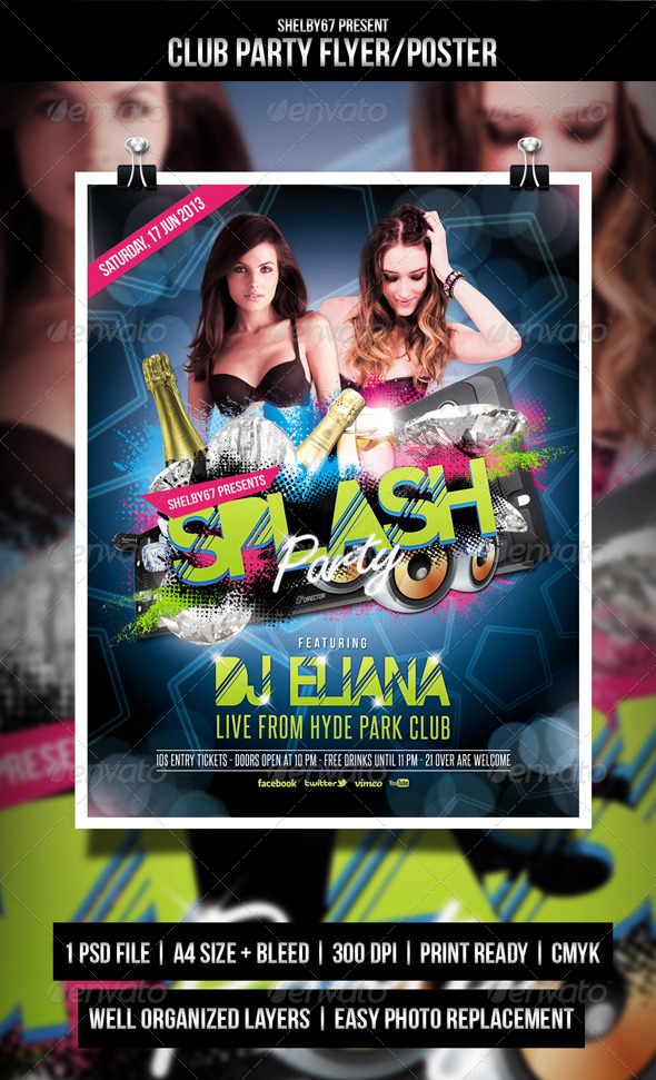 Club Party Flyer / Poster - Events Flyers