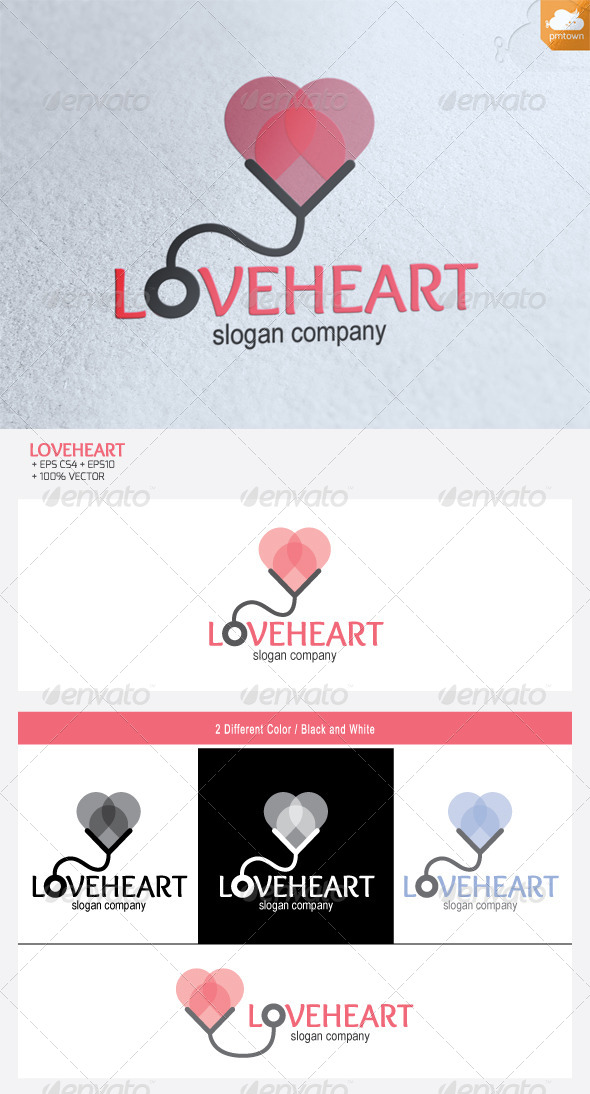 Love Heart logo - Objects Logo Templates