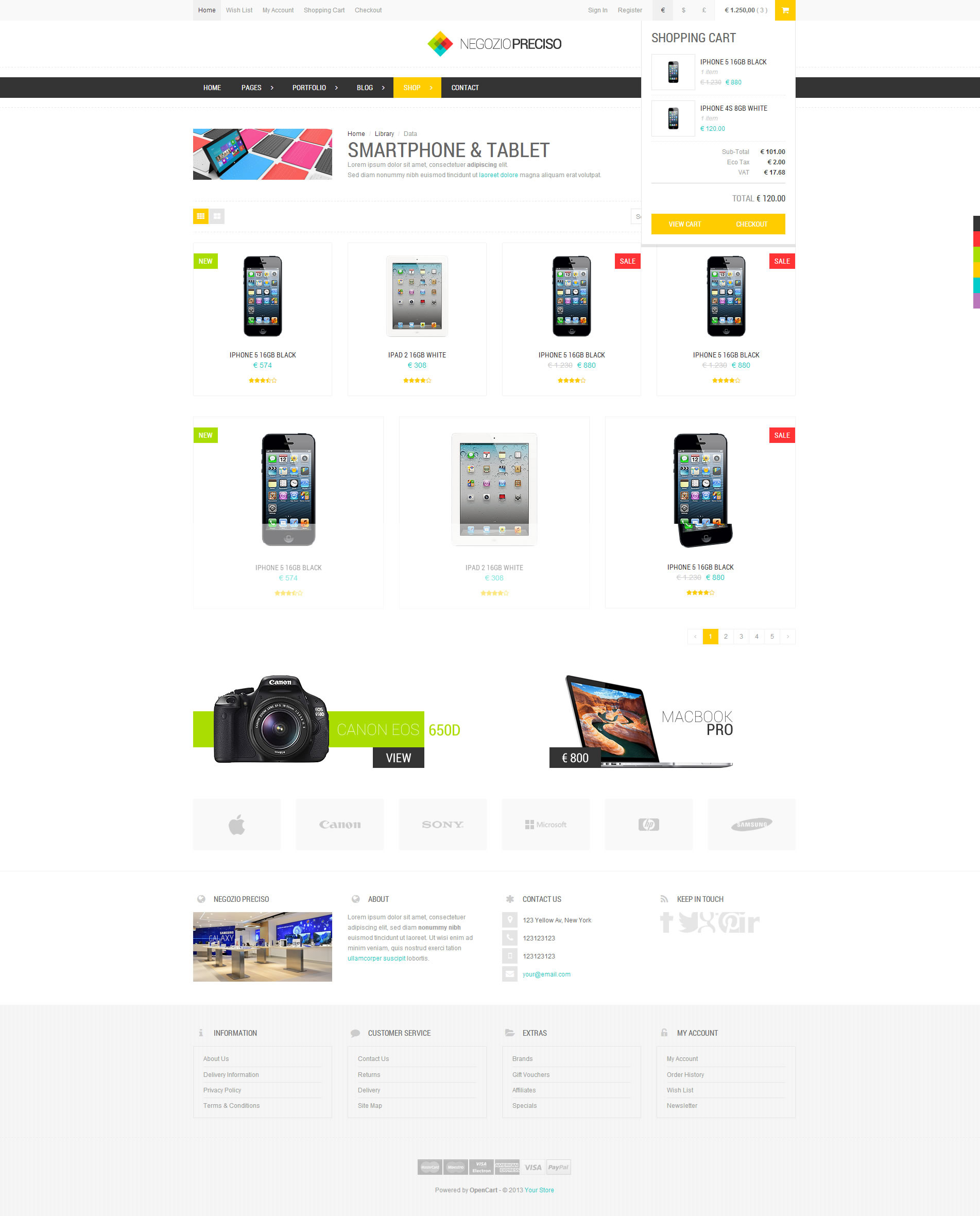 Preciso - Responsive Bootstrap eCommerce Template by AngeloM ...