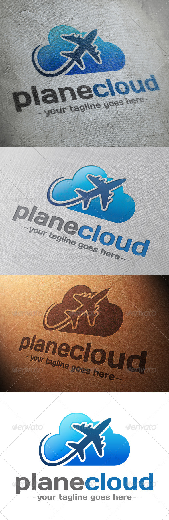Plane Cloud Logo Template - Objects Logo Templates