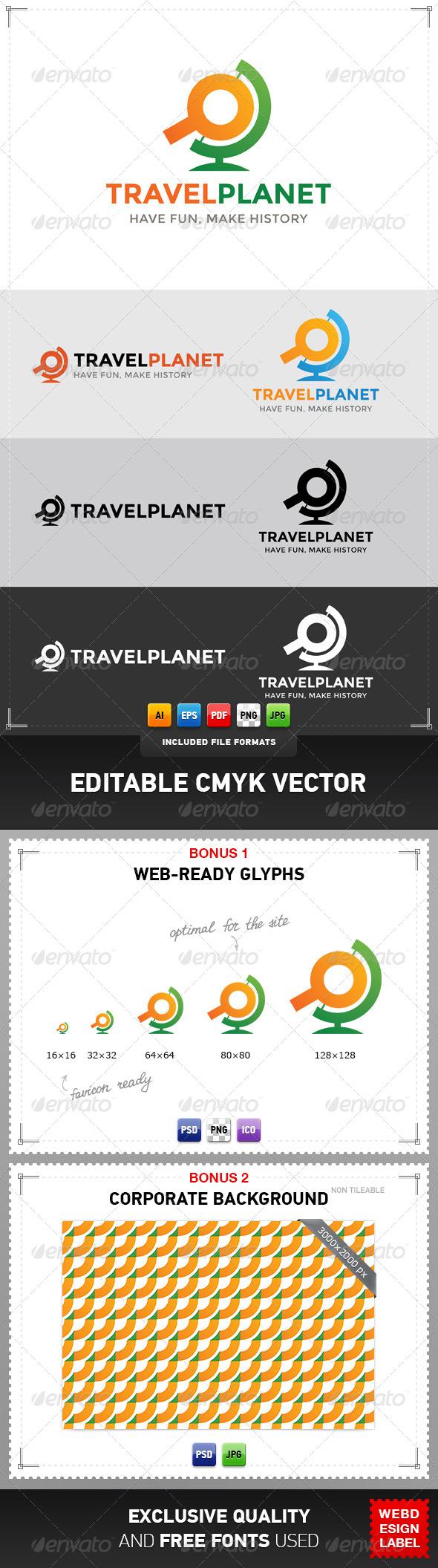 Travel Planet Logo - Objects Logo Templates
