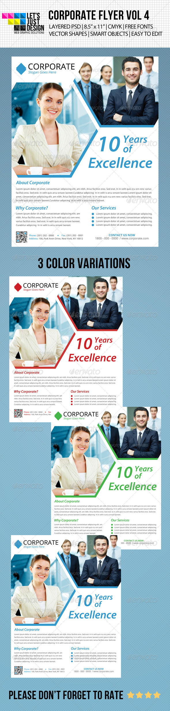 Minimal Corporate Flyer Vol 4 - Corporate Flyers