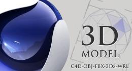 Cinema 4D Model and Render Setup