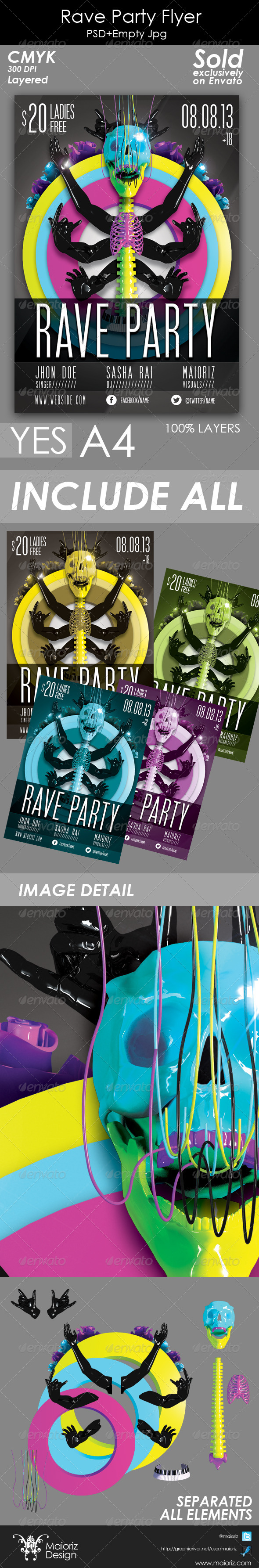 Rave Party Flyer - Clubs & Parties Events