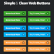 Simple & Clean Web Buttons - GraphicRiver Item for Sale