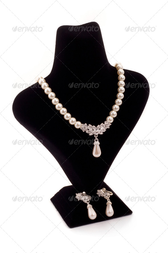 Pearl necklace - Stock Photo - Images
