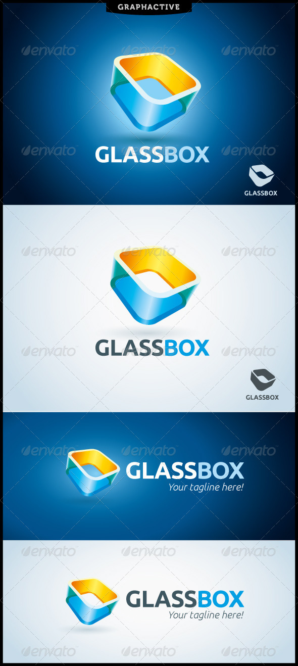 GlassBox Logo Template - Abstract Logo Templates
