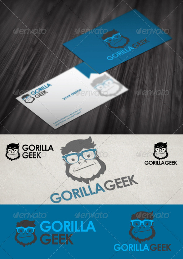 Gorilla Geek Logo Tempate - Animals Logo Templates