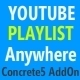 Youtube Playlists Anywhere Concrete5 AddOn - CodeCanyon Item for Sale