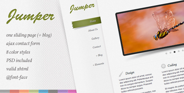 Free Download Jumper - one page template Nulled Latest Version
