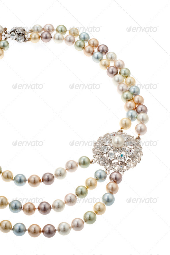 Necklace with a brooch - Stock Photo - Images