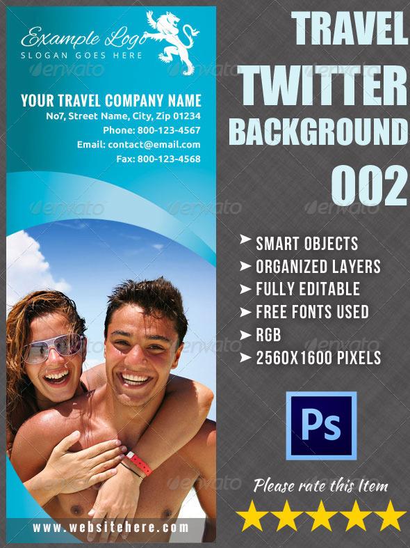 Twitter Background for Travel Company 02 - Twitter Social Media