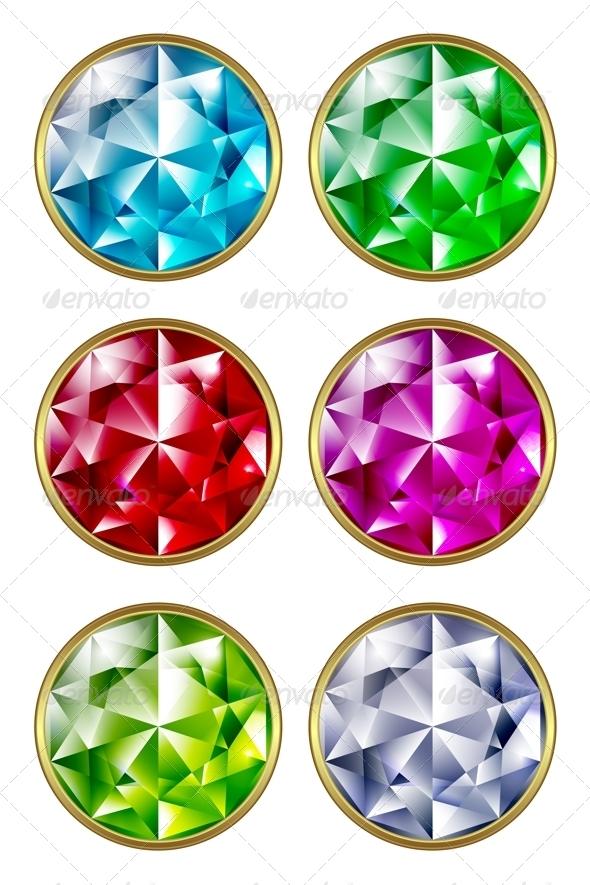 Precious Stones - Objects Vectors
