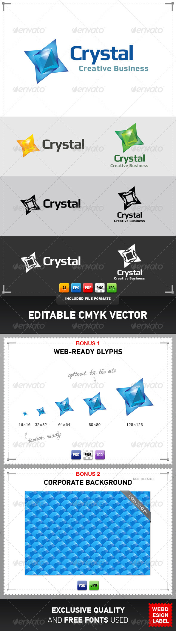 Crystal Logo - Abstract Logo Templates