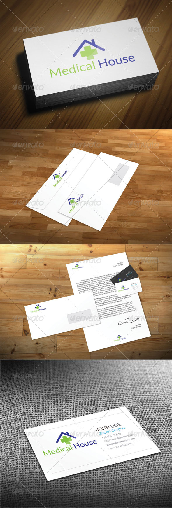 Medical House - Abstract Logo Templates