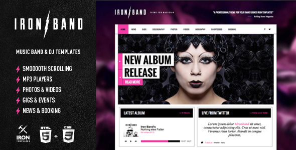 IronBand – Responsive Music Band & DJ template