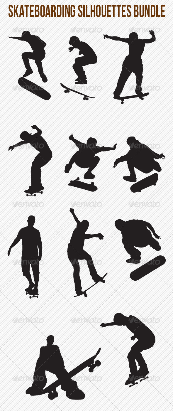 Skateboarding Silhouettes Bundle - Sports/Activity Conceptual