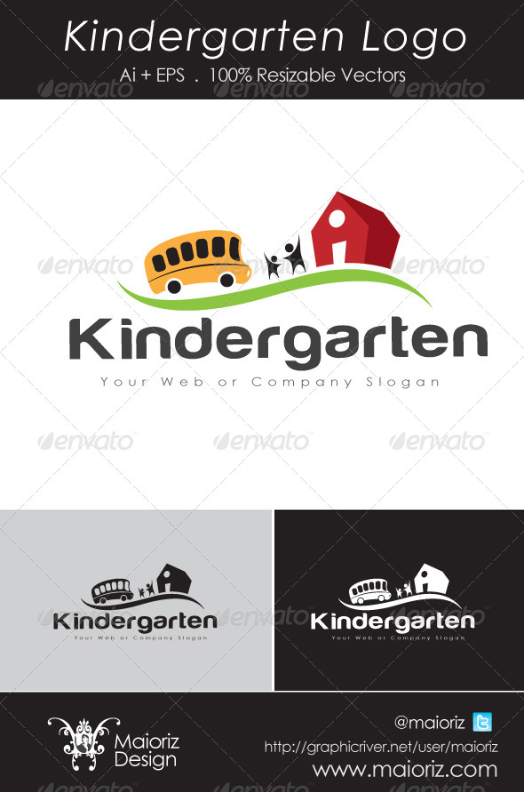 Kindergarten Logo 2 - Vector Abstract