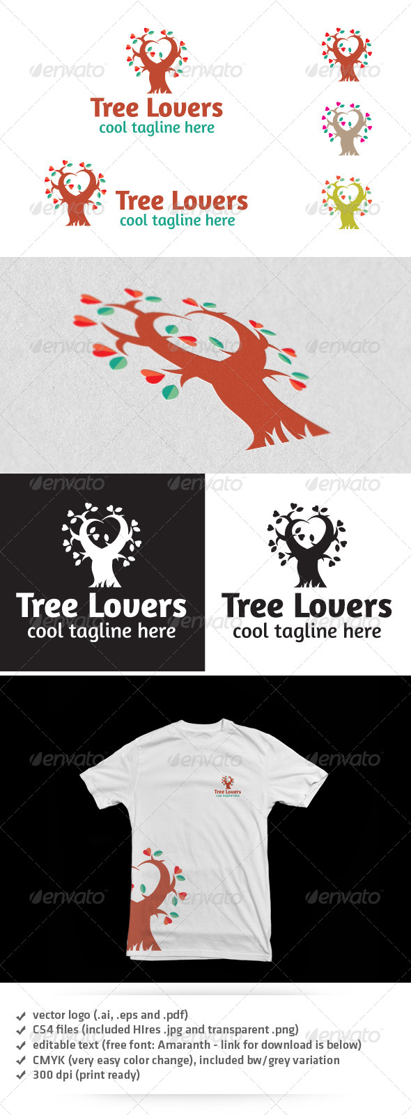 Tree Lovers Logo - Nature Logo Templates