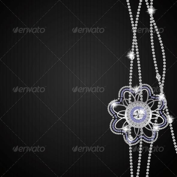Abstract Beautiful Black Diamond Vector - Backgrounds Decorative