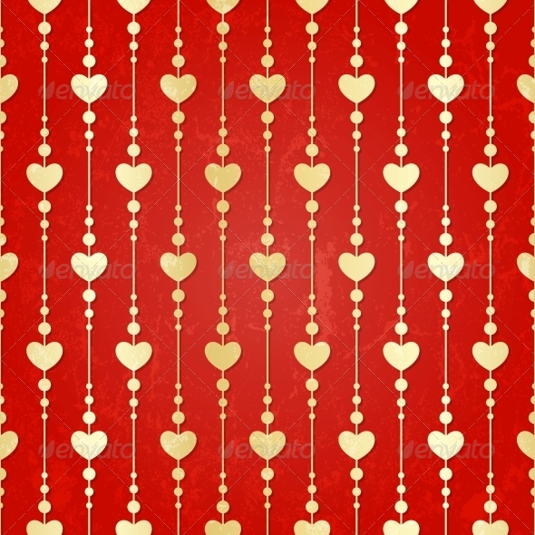 Valentine Seamless Hearts Pattern - Valentines Seasons/Holidays