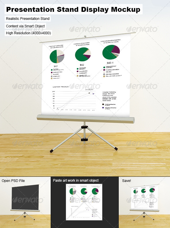 Presentation Stand Display Mock-Up - Signage Print