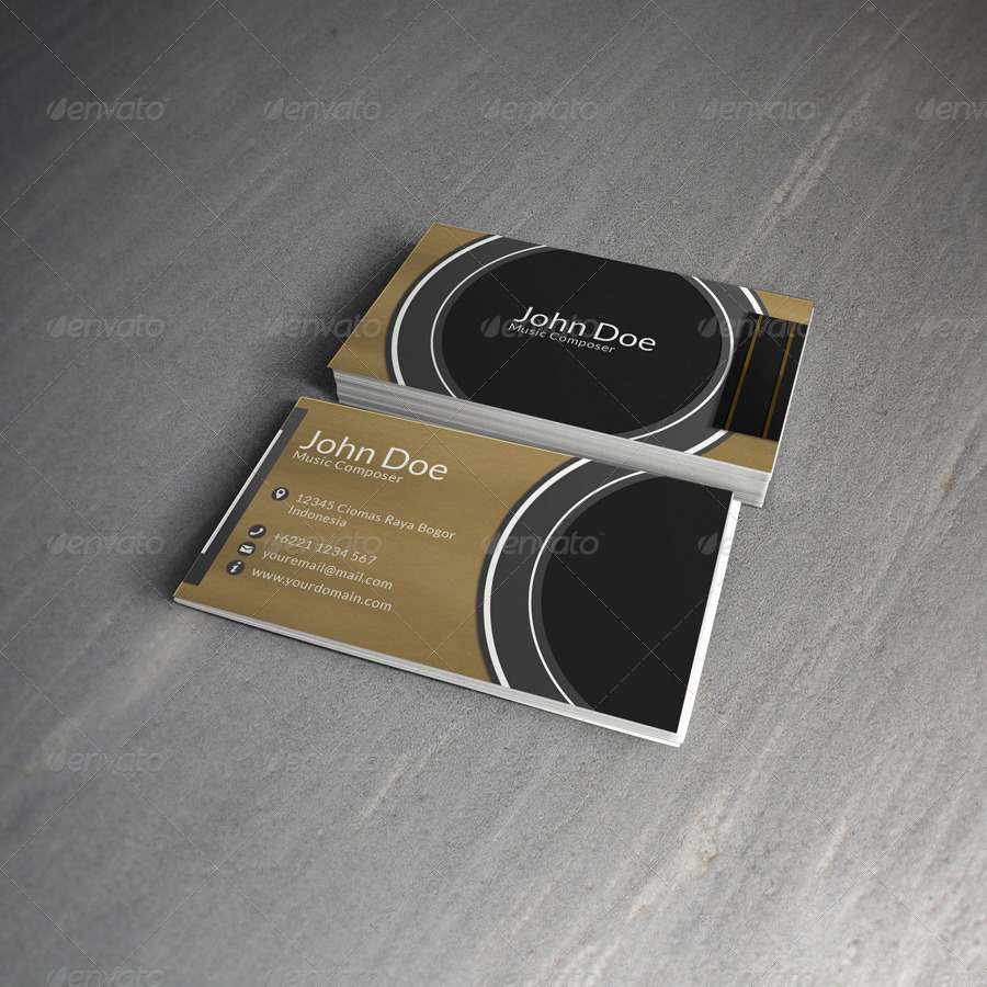 Composer Business Card by depriyansyah | GraphicRiver