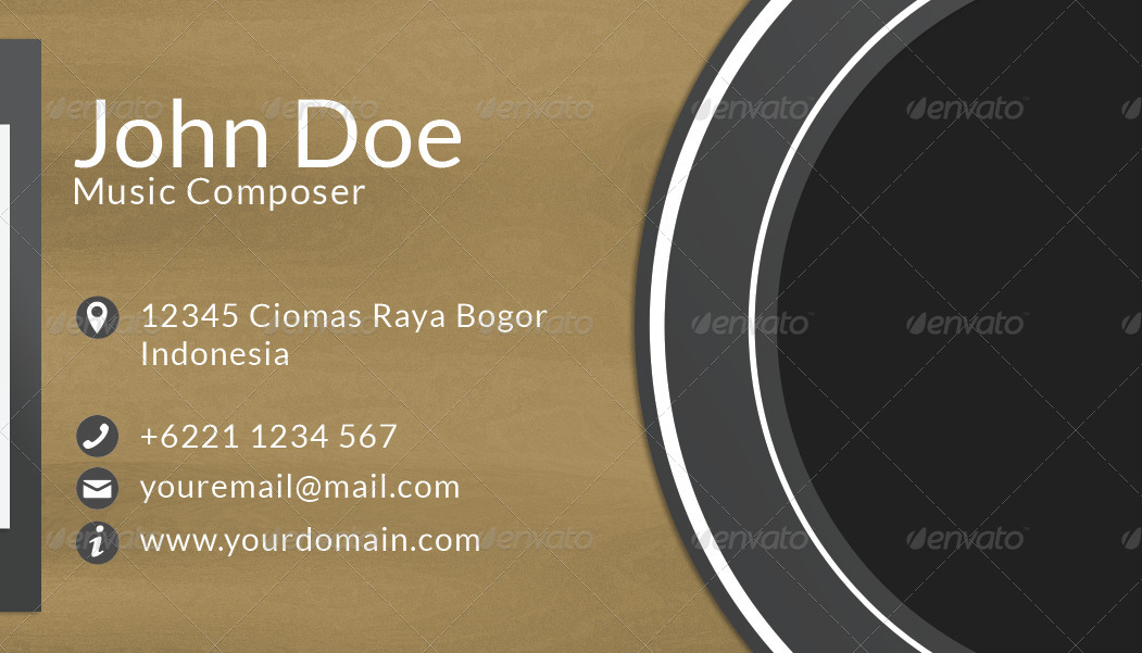 Composer business card by depriyansyah graphicriver composer business card reheart Images